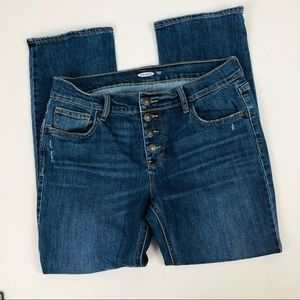 OLD NAVY Women's Blue Jeans Sz 6 Button Fly
